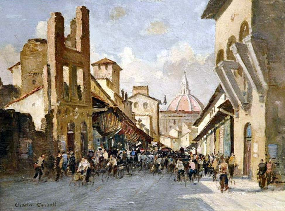 Charles Cundall - The Ponte Vecchio