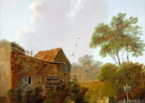 Charles Greville Morris - Midday Water Mill And Figure