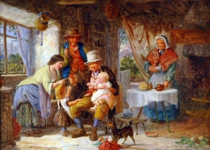David Hardy - Family In A Cottage Interior