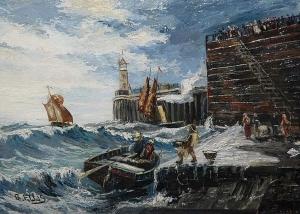 Edwin Ellis - Great Yarmouth, Unloading The Catch