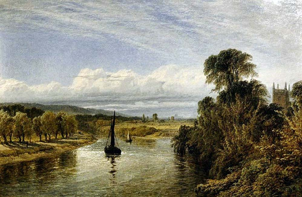 Henry Dawson - Runnymede, Coopers Hill And Windsor In The Distance