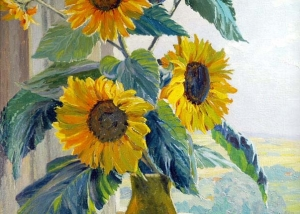 Kath Matern - Sunflowers On A Window Ledge