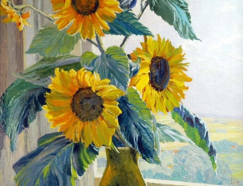 Kath Matern – Sunflowers On A Window Ledge