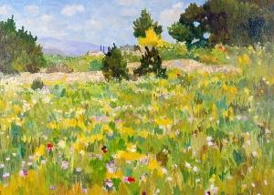 Marcel Gatteaux - Wildflowers, Villars, Provence
